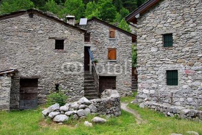 Configurar fotomural casas de piedra en val di mello n 11817 for Disegni di case in pietra calcarea