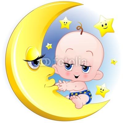 Configurar fotomural beb reci n nacido y la luna de for Recien nacido dibujo
