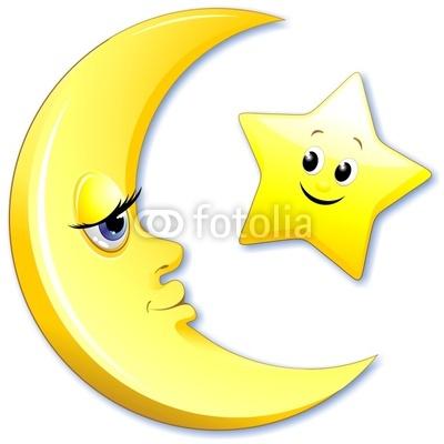 Configurar fotomural luna y la estrella de dibujos - Dibujos de lunas infantiles ...